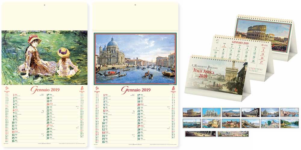 Calendari artistici personalizzati e neutri