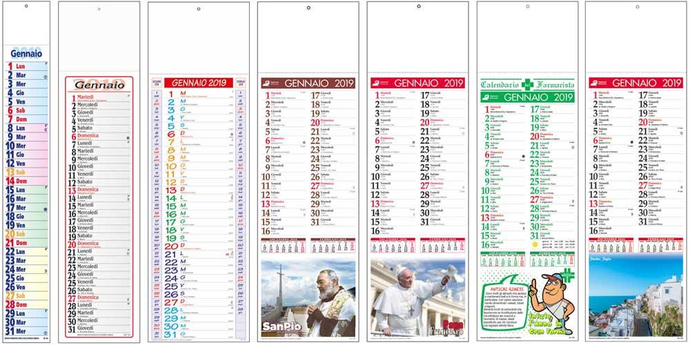 Calendari silhouette personalizzati olandesi e illustrati