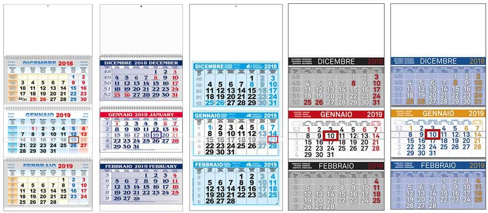 Calendari trittici personalizzati per aziende