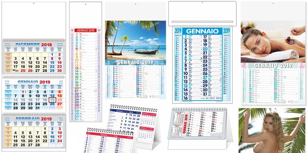 Stampa calendari Ancona, Milano, Roma, Torino, Firenze, Napoli, Bologna